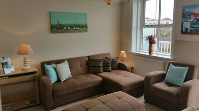 Photo for BOURNECOAST: Apartment close to sandy beaches/pier-balcony with SEA VIEWS-FM519