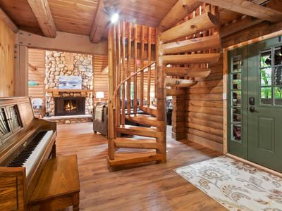Photo for Beautifully Updated Log Cabin with Golf Cart! - Abbey Springs Lake House