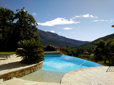 Photo for Superb South Facing Family Villa with Infinity Pool & Mountain Views