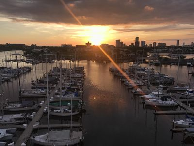 Photo for Panoramic Frontal Views of Marina, Sunsets, and Ocean from  Mega Balcony