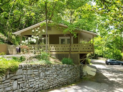 Photo for Lucerne Chalet - Treetop Mountain Views In Downtown Asheville, Dog Friendly, FP