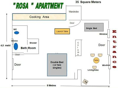 Photo for Large Studio Rosa, in Sorrento, for 3 persons