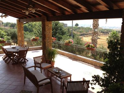 Photo for Gambo Verde, apartment in villa with garden and wonderful panoramic view