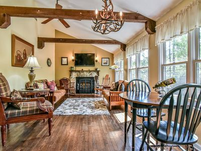 Photo for Secluded Cottage w Mtn Views! Location Can't be Beat, Hot Tub, Fireplace Pets OK