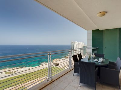 Photo for Stunning Seafront Lux Apt wt Pool, Upmarket Area