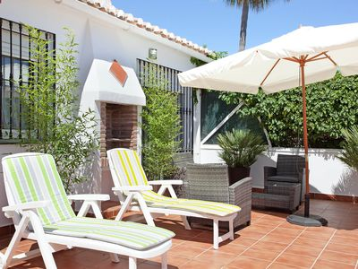 Photo for Beach house with private garden at Costabella - Marbella