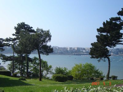 Photo for Beautiful apartment of 48 m2 beautiful sea view in residential park, quiet