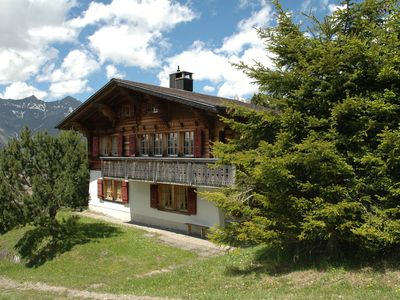 Photo for Detached chalet on the alm, great views, privat garden, well equipped