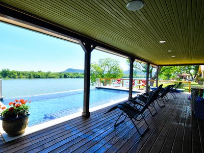 Photo for Logan`s Retreat 140' Waterfront, Infiniti Pool,Volleyball, Pool Table, Ping-Pong