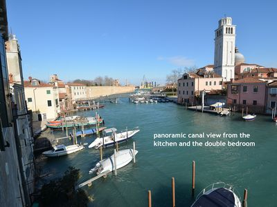 Photo for PANORAMIC CANALVIEW BIENNALE-2bed-5pax, aircnd, wifi