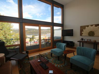 Photo for AMAZING VIEWS at this beautiful modern townhome in downtown Hood River, sleeps 8!