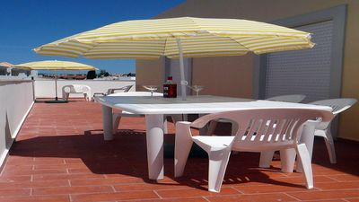 Photo for Free WIFI _Comfortable Apartment W/ Private Terrace, Near Beach And Golf.