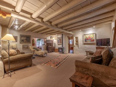 Photo for Historic Home of Taos Artist -Charming Ambiance and Very Best Location!