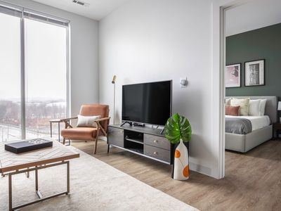 Photo for Bright Allston 1BR w/ Gym, BBQ, W/D, nr. Charles River, by Blueground