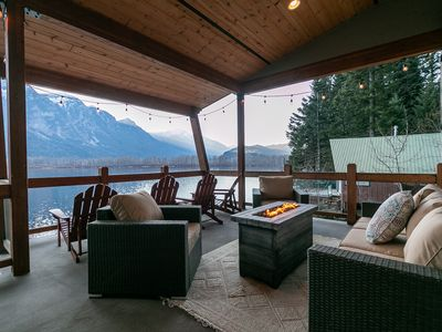 Photo for Lazy Bear Lodge on stunning Lake Wenatchee, mountain views and so much more