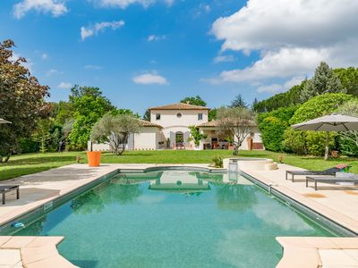 Photo for Villa Puegricard - Charming house for 8 with swimming pool and wifi
