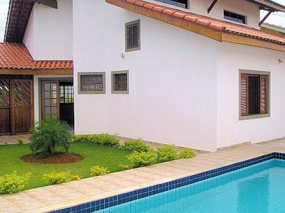 Photo for House 3 bedrooms (1 ensuite), mezzanine / dorm., Pool Peruíbe