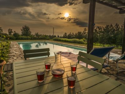 Photo for Single-level Villa, panoramic position, 6x16m private pool, Whirlpool and spa
