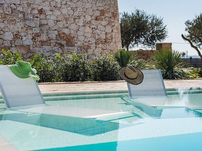 Photo for Villa Oriana: A charming one-story villa in a quiet position, in the Apulian countryside, a short distance from the sea, with Free WI-FI.