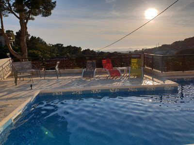 Photo for Pretty dependency with swimming pool of approximately 20m2 for 2 people, very equipped