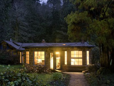 The Cottage In Woods At Night