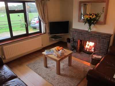 Enjoy snuggling up with a cosy fire while watching the ponies