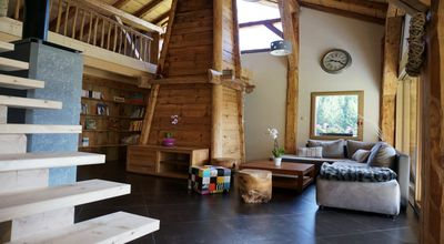 Photo for Chalet Bonnavaz, Mountain chalet with SPA