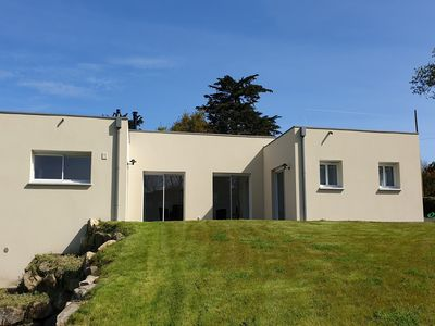 Photo for New house on one level with large garden in Trégastel
