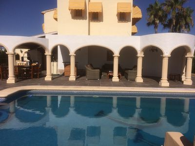 Photo for Detached Private 4 Bed Villa Sleeps 8, Heated Pri Outdoor Pool WiFi Full Air Con