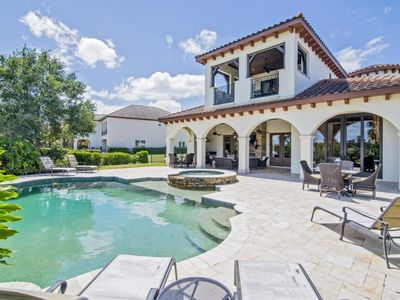 Photo for Reunion Luxury on Golf Course; Private Pool/Spa, Gourmet Kitchen, Game Room, Theatre