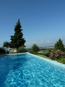 New Tuscan House In Olive Tree Hill, Salted Pool Sea View, WiFi,  Air Condition