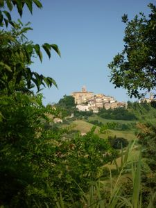 View on the village of Monsampolo del Tronto
