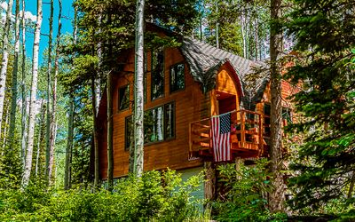 Photo for Blanche's Retreat - Spacious cabin in trees near Silver Fork Lodge