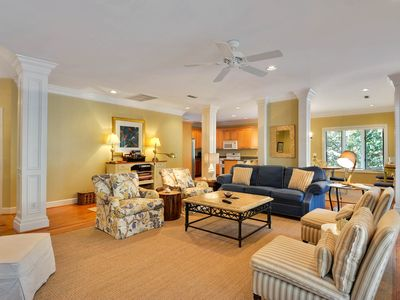 Photo for NEW LISTING! Woodsy home w/peaceful surroundings & pool near golf & tennis