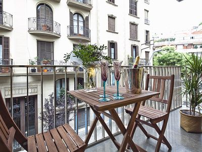 Photo for Apartment Barcelona Rentals - 4 apartments for 16 pax w/ small private terrace