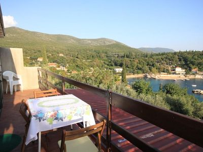 Photo for One bedroom apartment with balcony and sea view Molunat, Dubrovnik (A-8550-a)