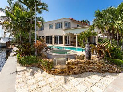 Photo for INTERCOASTAL WATERFRONT HOME: Hot tub, bicycles, BBQ, 160 degree water view.
