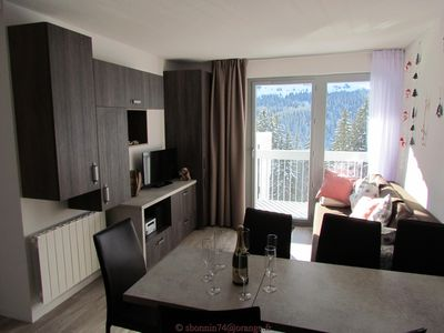 Photo for Flaine apartment 3 very comfortable rooms with south balcony