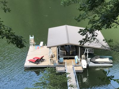 Photo for Fall break available !!!- kids love our dock w/slide & diving board.