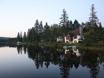 Photo for Lakefront Chalet - A waterfront unit in Village Suisse resort, in the heart of Val-David