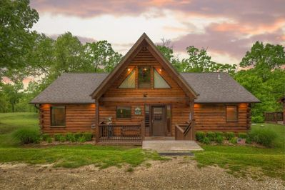 Log Cabin With Hot Tub Caribou Canyon Lodge Branson Cedars