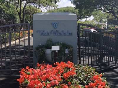 Entrance To Vista Waikoloa With Controlled Access Gate