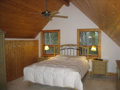 The Loft Bedroom Offers a Romantic Setting, with Beautiful Mountain Views.