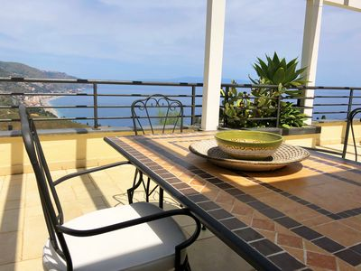 Photo for PANORAMIC PENTHOUSE Pool  Sea View Terrace + Free Parking Taormina