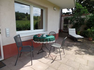 Photo for 2 persons 4-star holiday apartment with terrace and garden directly on the vine