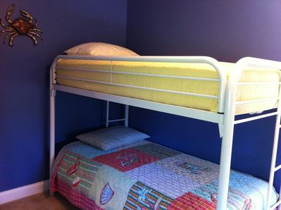 Upstairs Bedroom has 2 sets of bunk beds