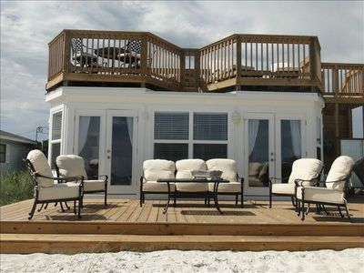 Photo for BEAUTIFUL, RELAXING! BUILT RIGHT ON THE SAND ON THE BEACH!!! NO WALK OVER!!!