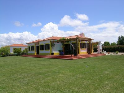 Photo for Delightful detached villa with pool in rural location.