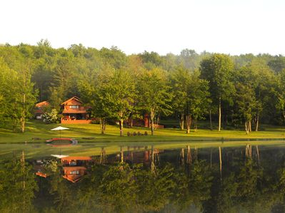 A peaceful morning on the lake