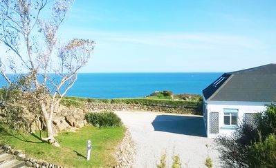 Photo for Above Beach House In Panoramic Location  Large Sleeps 8 in 1 Acre Private Garden